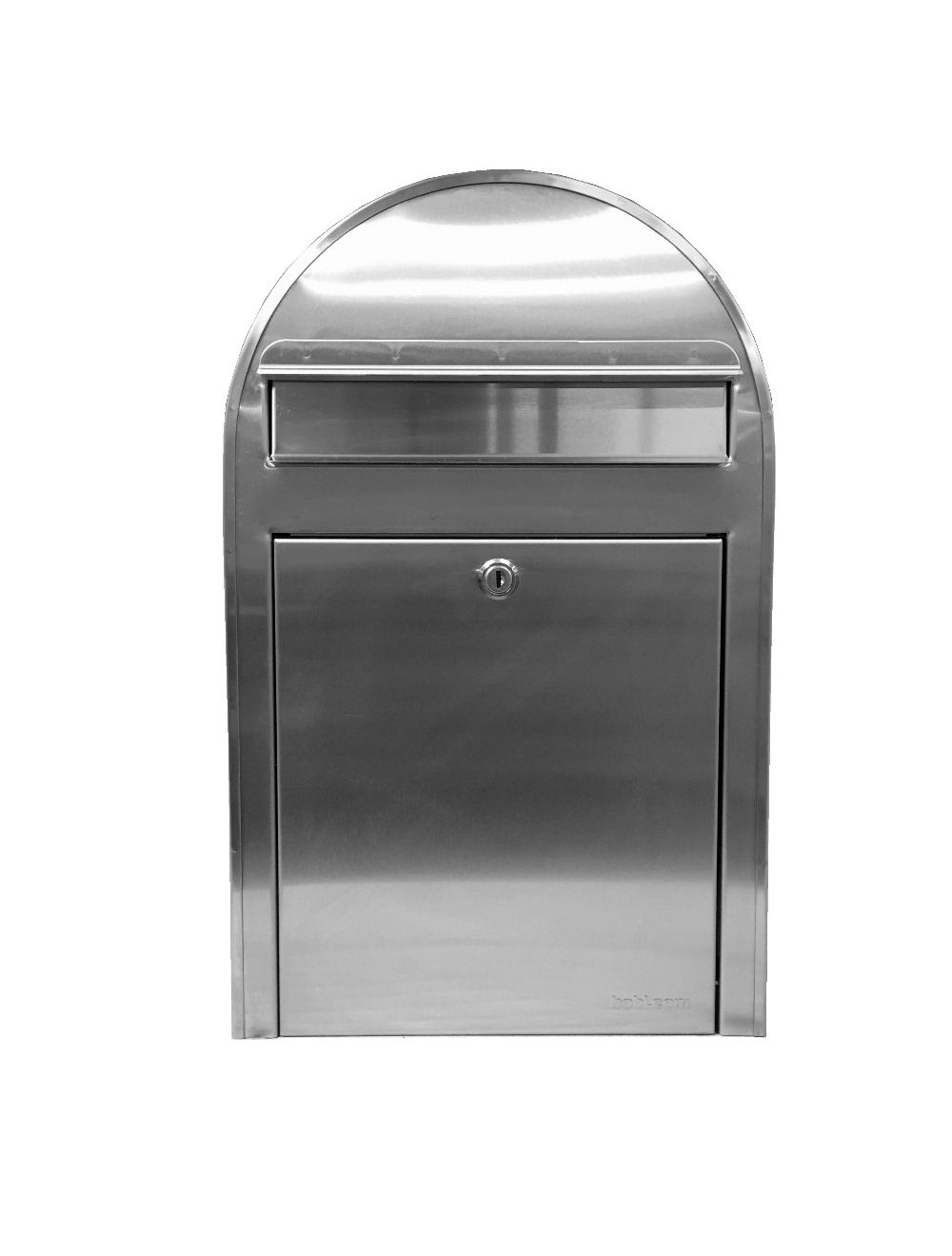 USPS Bobi Classic (S) Slim Stainless Steel Front Access Lockable Mailbox