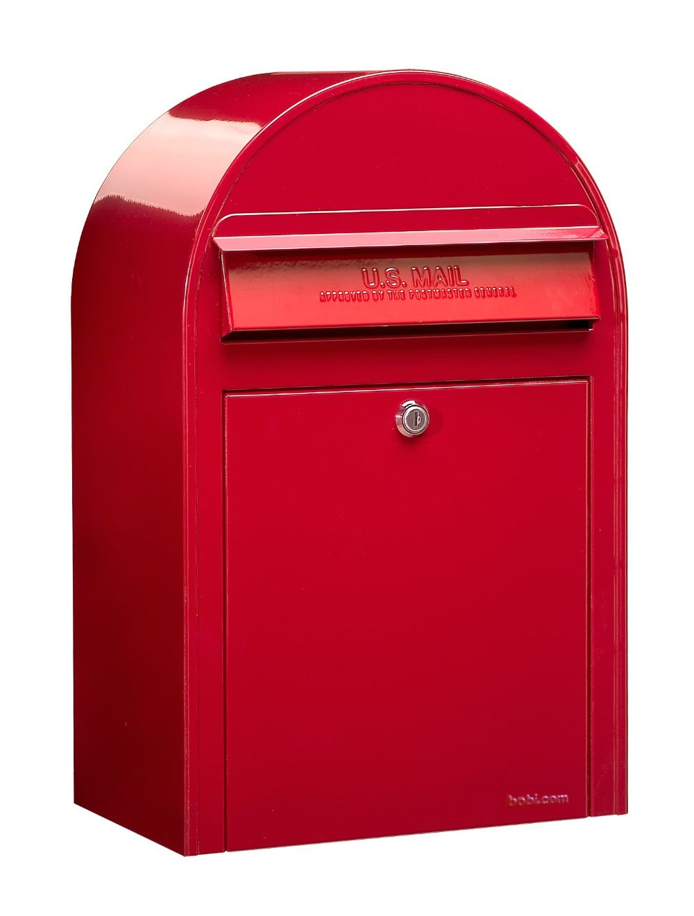 USPS Bobi Classic Front Access Lockable Red Mailbox