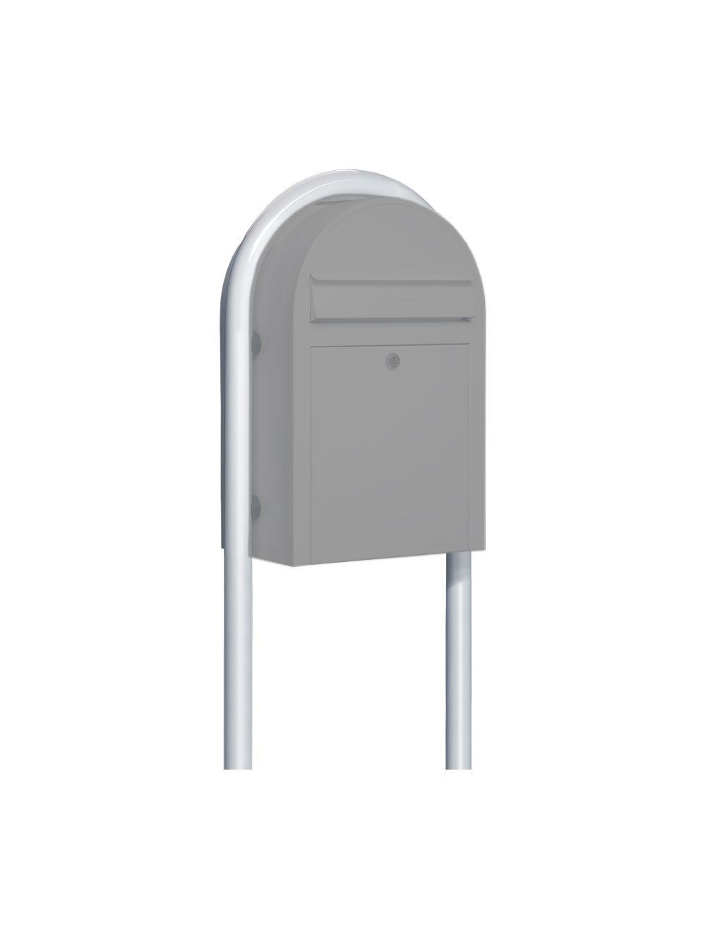 USPS Bobi White Round Mailbox Post