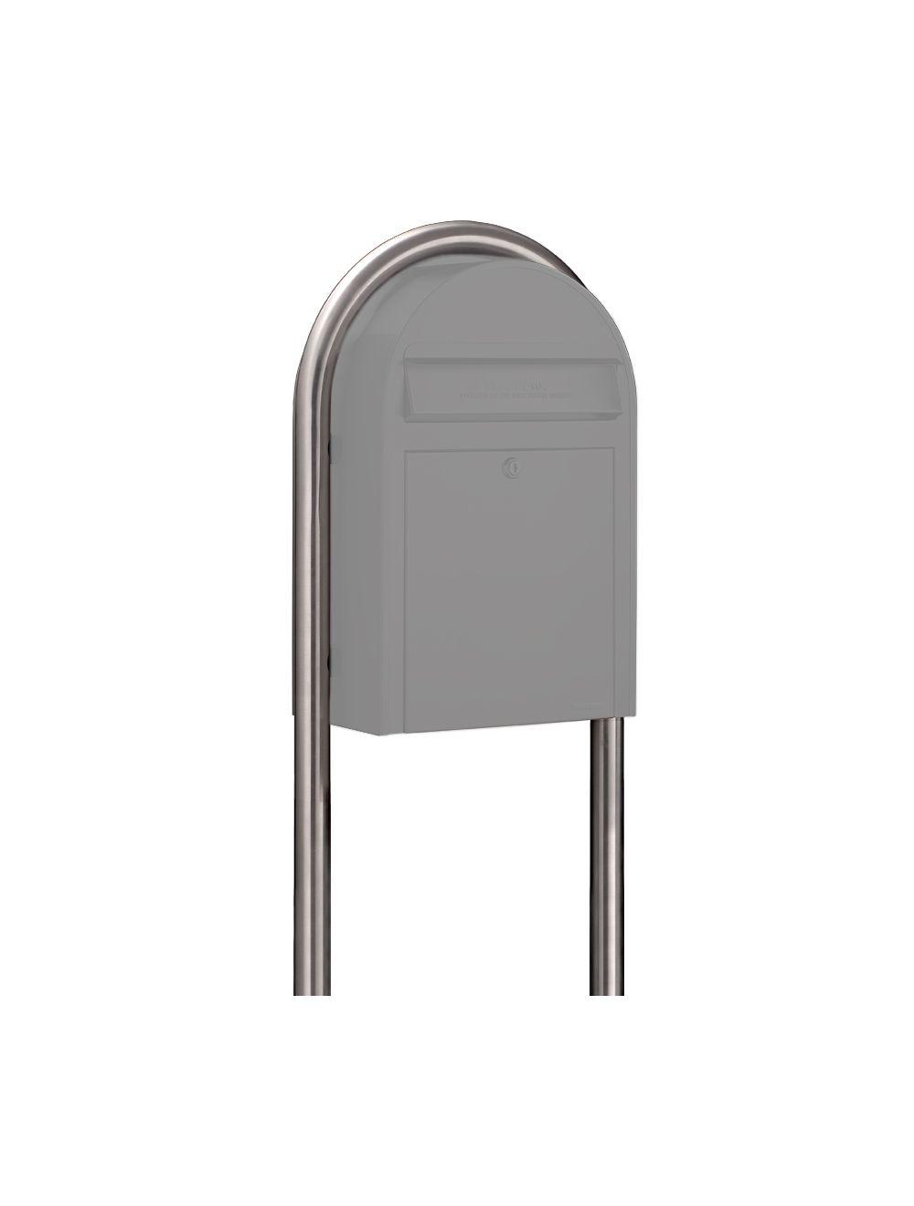 USPS Bobi Stainless Steel Round Mailbox Post