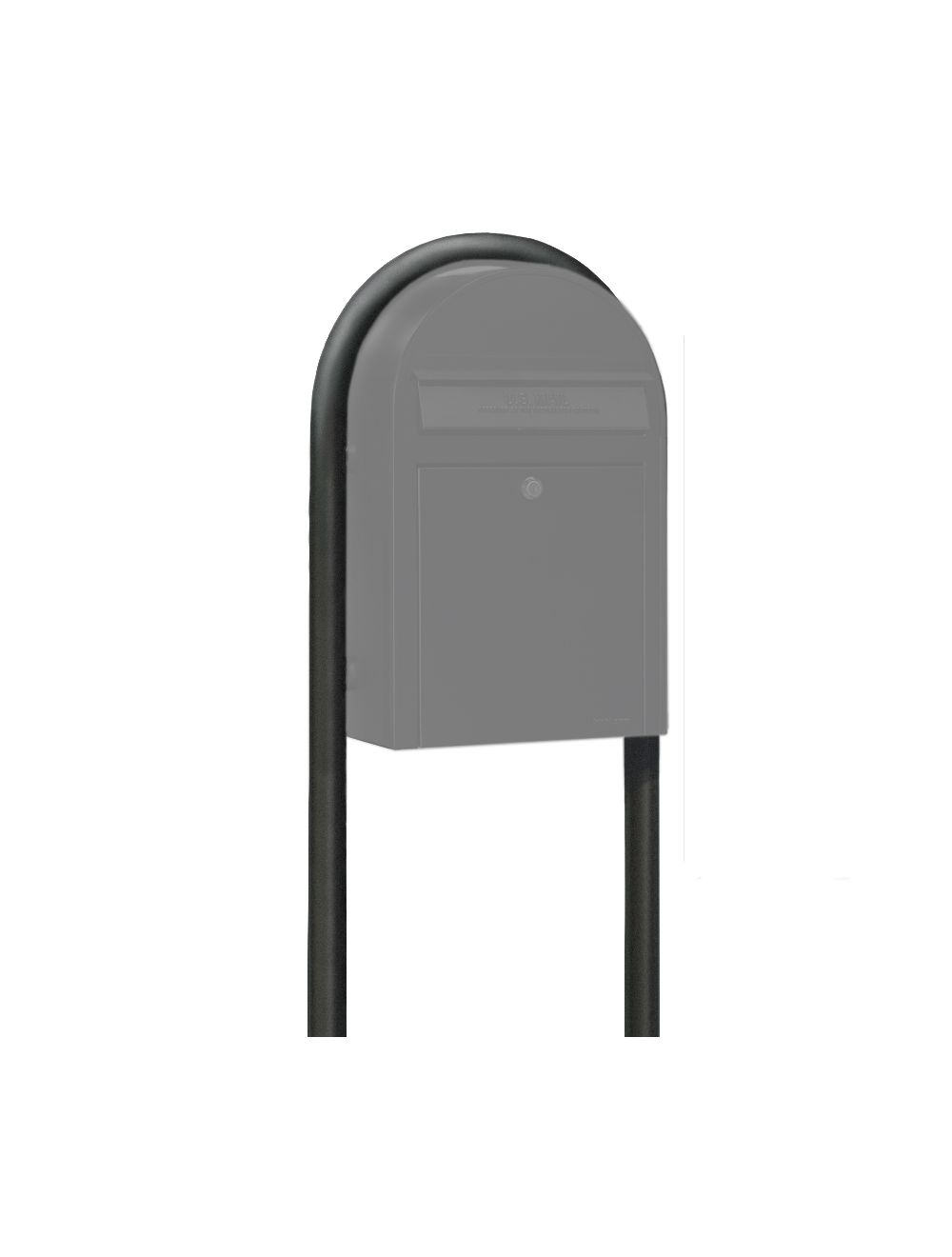 USPS Bobi Structured Black Round Mailbox Post