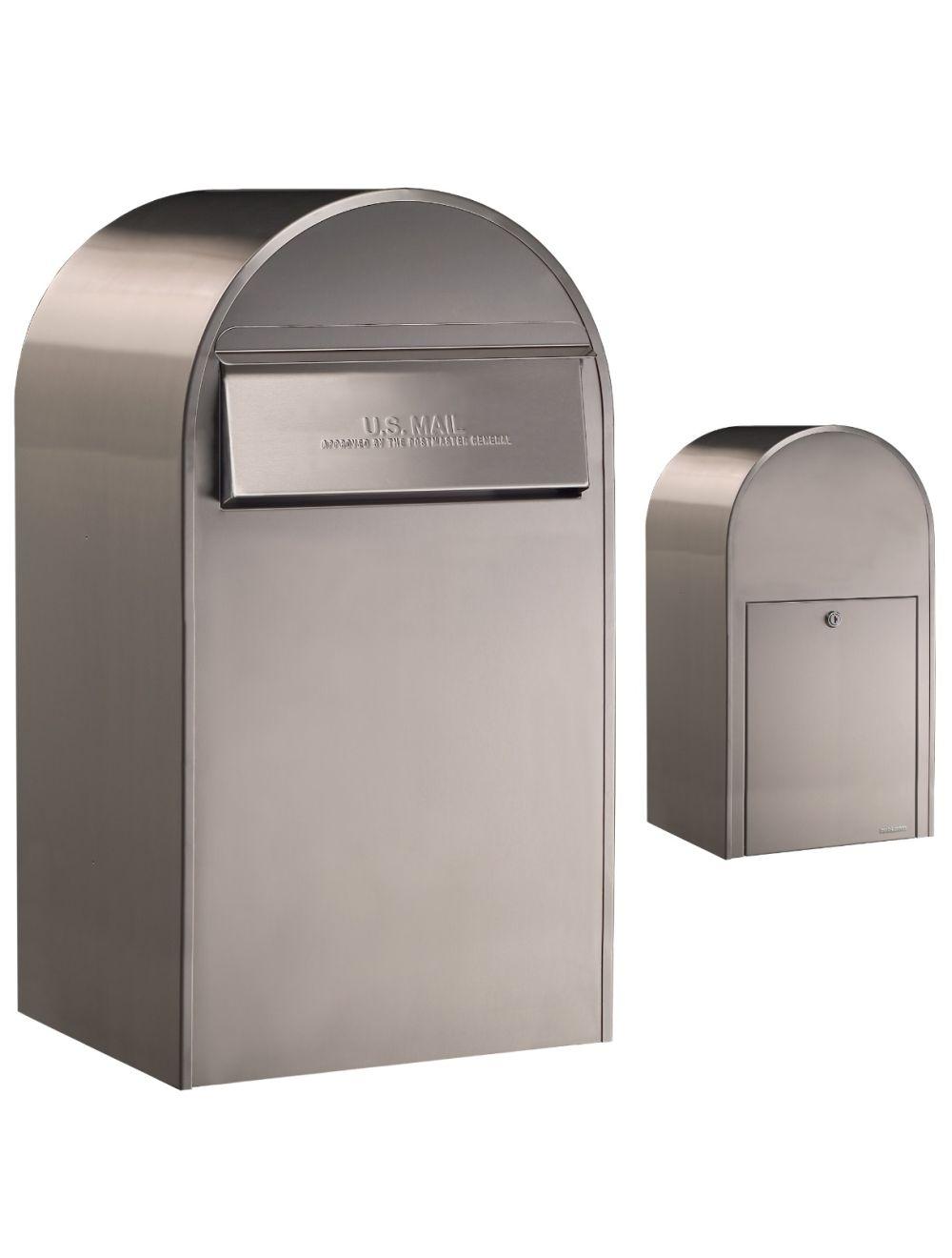 USPS Bobi Grande (B) Rear Access Stainless Steel Mailbox