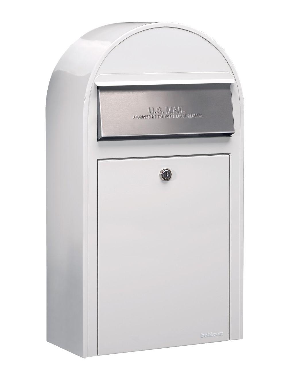 USPS Bobi Grande (S) Slim White Mailbox