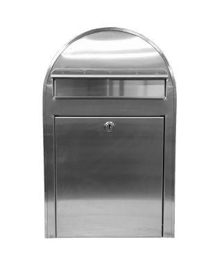 USPS Bobi Classic Grey Front Access Lockable Mailbox