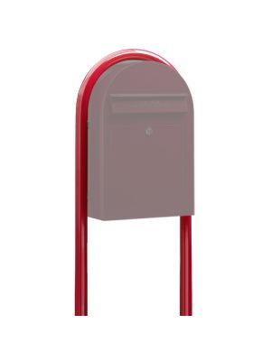 USPS Bobi Red Round Mailbox Post