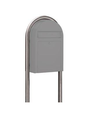 USPS Bobi Zinc Plated Round Mailbox Post