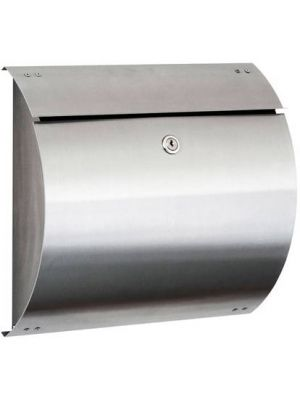 Knobloch Honolulu Locking Surface Mount Mailbox in Stainless Steel