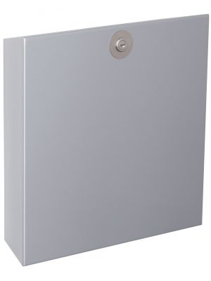 Knobloch Vienna Locking Surface Mount Mailbox in Silver