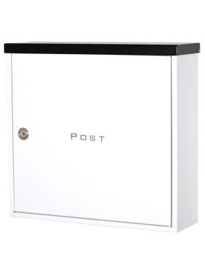 Knobloch Beverly Locking Surface Mount Mailbox in Black / White