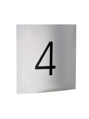 Knobloch Soho Brushed Stainless Steel House Number Plate