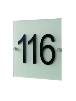Knobloch Soho Poly House Number Plate in Ice Green