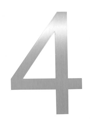 Knobloch Little Burns Stainless Steel House Number - 4