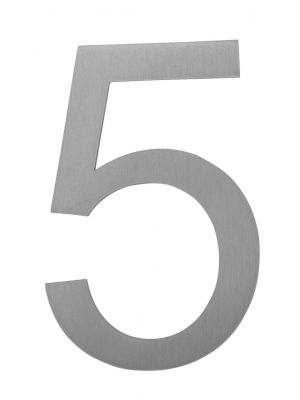 Knobloch Little Burns Stainless Steel House Number - 5