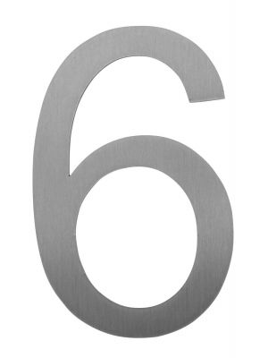 Knobloch Little Burns Stainless Steel House Number - 6