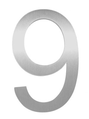 Knobloch Little Burns Stainless Steel House Number - 9