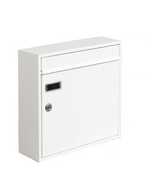 Knobloch Memphis Locking Surface Mount Mailbox in Pure White