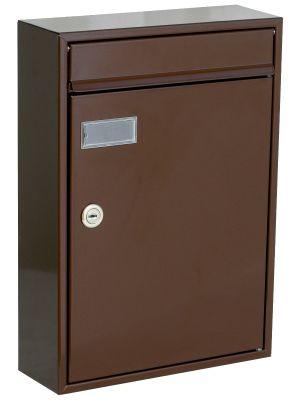 Knobloch Houston Locking Surface Mount Mailbox in Chocolate Brown