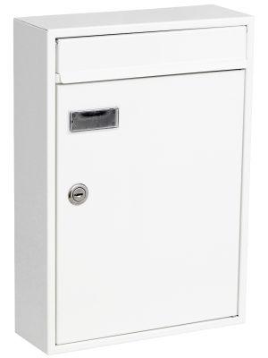 Knobloch Houston Locking Surface Mount Mailbox in Pure White