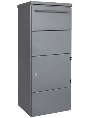 Knobloch Toronto Freestanding Locking Letterbox with Parcel Drop in Grey Aluminum