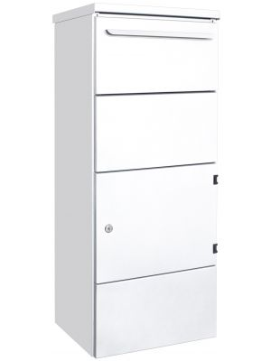 Knobloch Toronto Freestanding Locking Letterbox with Parcel Drop in Pure White